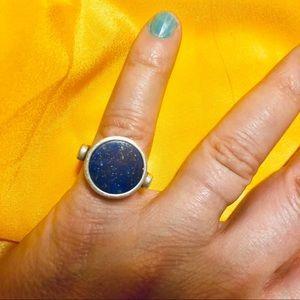 Galaxy Lapis/Sterling Silver .925 flip ring